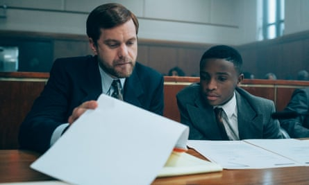 Joshua Jackson and Caleel Harris in When They See Us
