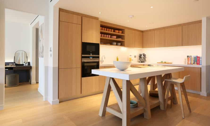 Gehry show apartment kitchen.
