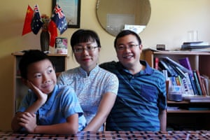 Nicole Li and Charlie He with their son James