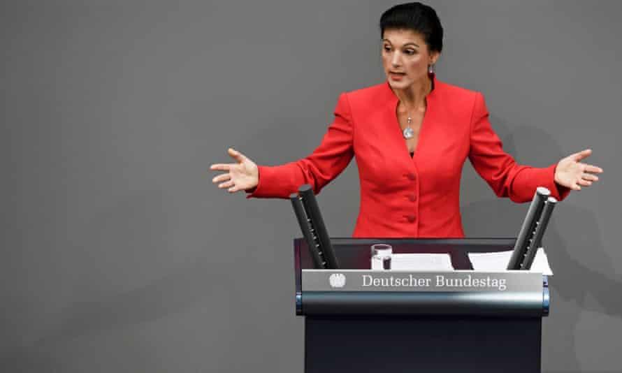 Die Link's chairwoman, Sahra Wagenknecht