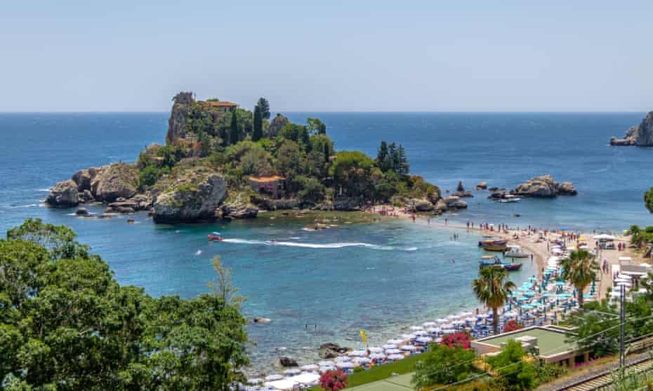 Isola Bella island and beach, Taormina