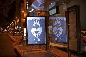 A poster by street artist Ricardo Cavolo