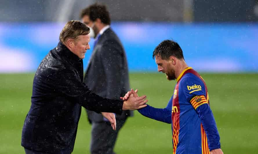 Lionel Messi trudges off after the final whistle.