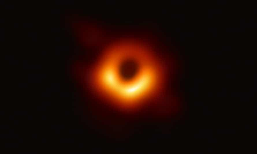 The event horizon at the black hole in galaxy Messier 87.