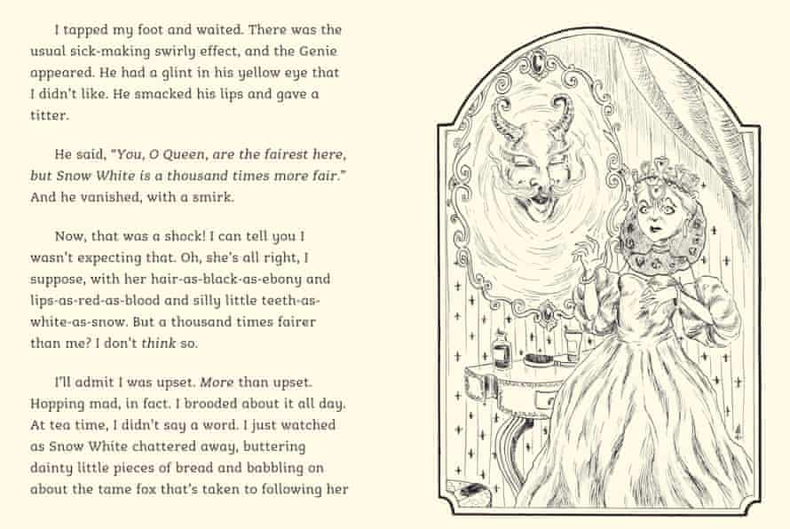 Pages from The Queen's Tale by Kaye Umansky and illustrated by Alexandre Honoré
