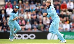 England's Joe Root celebrates catching West Indies Jason Holder.