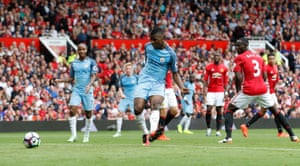Manchester City's Kelechi Iheanacho slots home their their second goal.