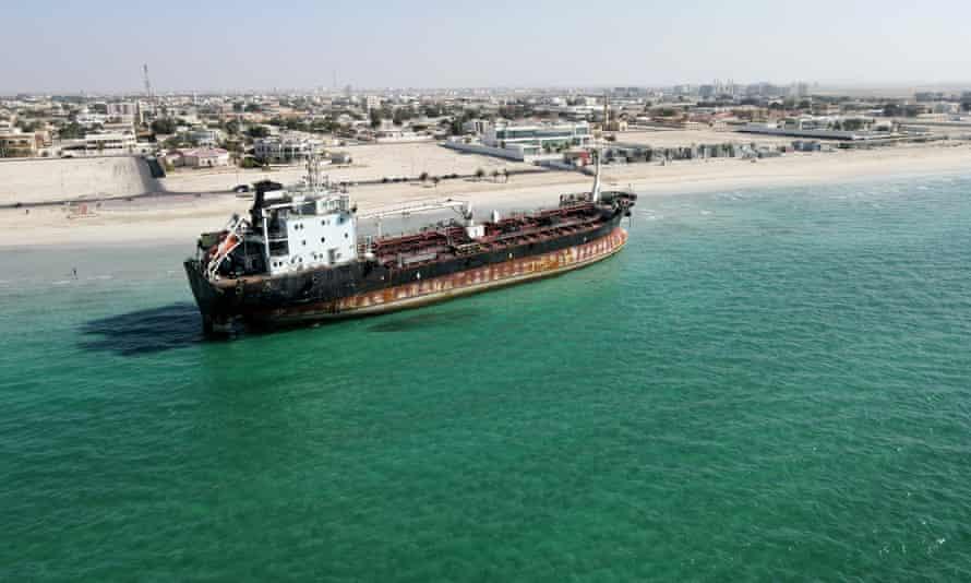 MT Iba beached in Umm Al Quwain
