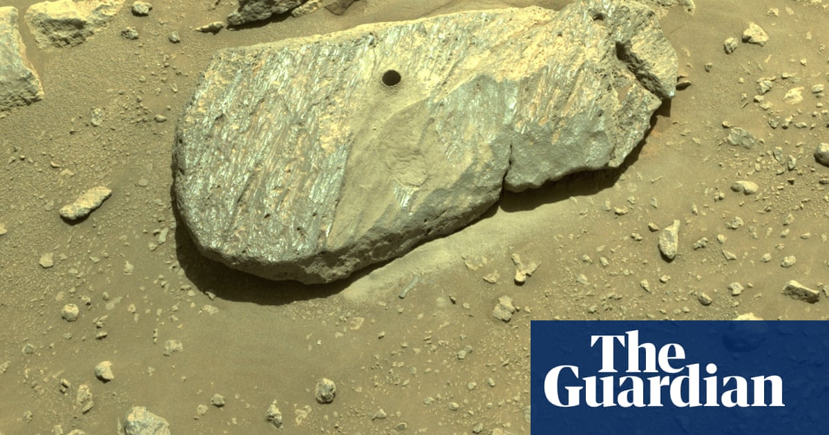 Nasa's Perseverance rover collects first Mars rock sample