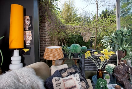 Looking out from Abigail Ahern's living room into her garden