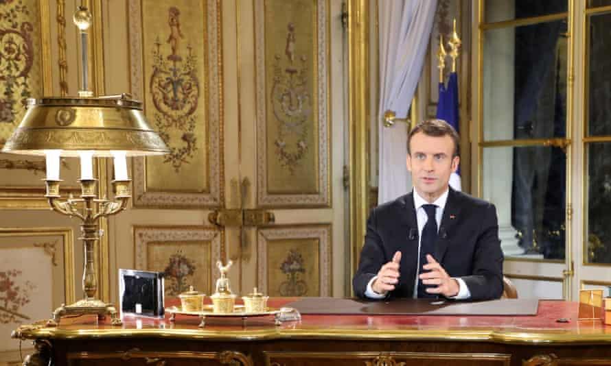 Emmanuel Macron  in the Élysée Palace