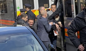 Police take WikiLeaks founder Julian Assange into custody on 11 April 2019.