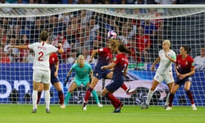 Lucy Bronze scored England's third goal from long range against Norway.