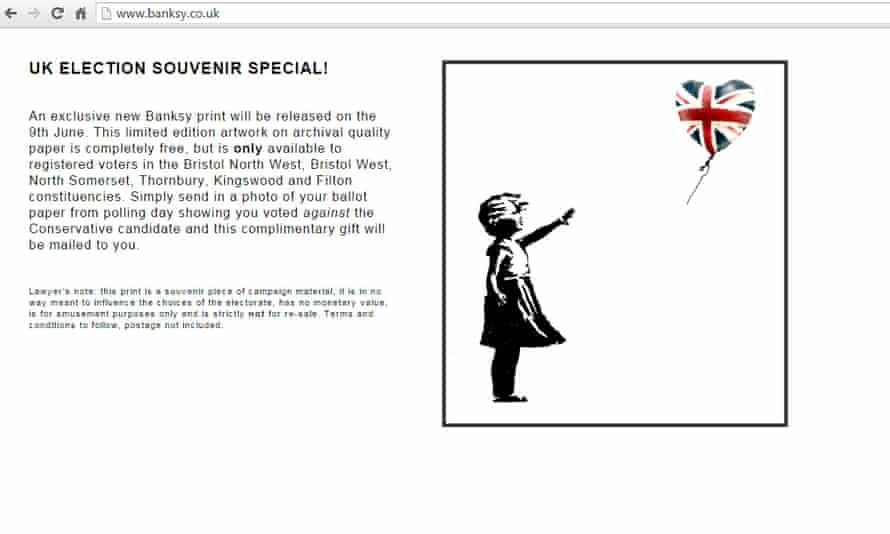 Banksy website screengrab