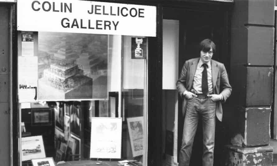 Colin Jellicoe outisde his art gallery in Manchester