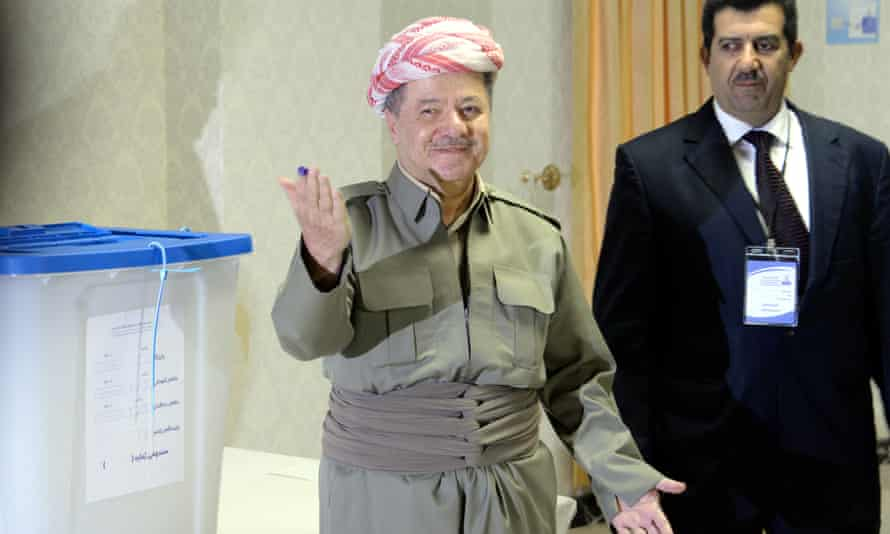 Iraq's Kurdish leader, Masoud Barzani