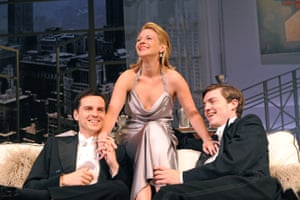 Scott with Lisa Dillon and Tom Burke – forming another love triangle – in Anthony Page's revival of Design for Living by Noël Coward at the Old Vic in 2010.