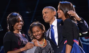 The Obamas on election night in Chicago in 2012