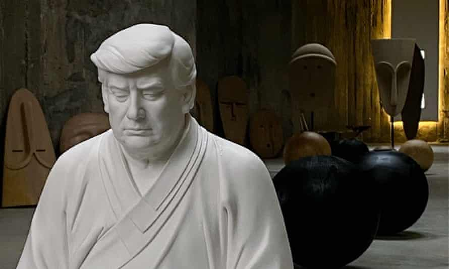 The Trump Buddha statue for sale on the Chinese e-commerce platform Taobao.