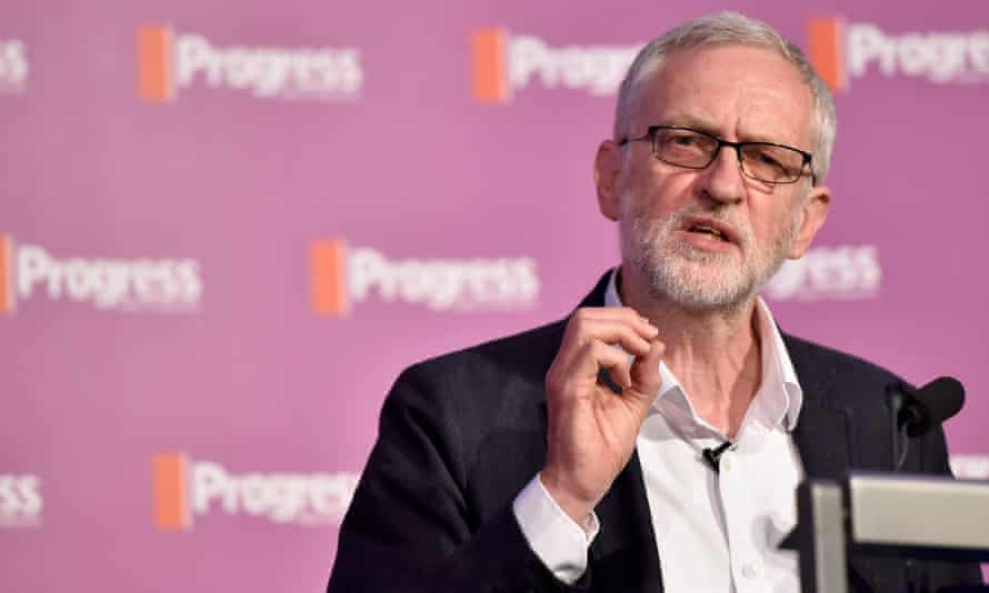 Jeremy Corbyn speaks at a conference in London