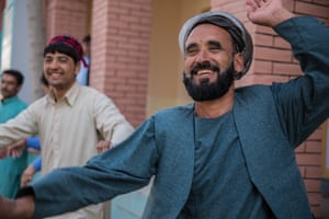 Rostam, 45, from Sar-e-Pol Province, performs a Pashto dance in Mazar-e-Sharif to celebrate the new year. He has been a dancer since his early childhood and says it is his way of preserving the country's cultural heritage