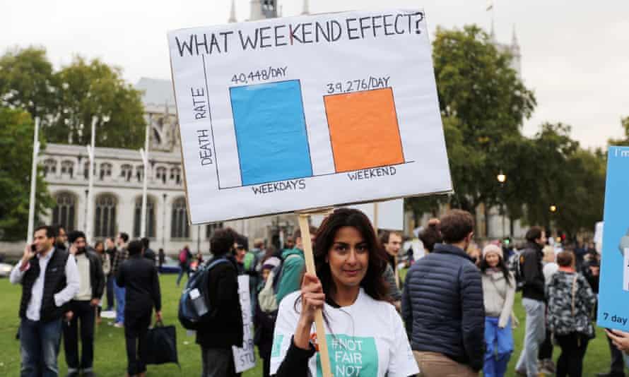 Junior doctors' protest, London