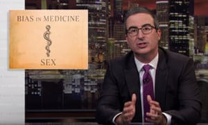 """John Oliver: """"If you are a woman and/or a person of color in the US, you may well have a very different relationship to our healthcare system than a white man."""""""