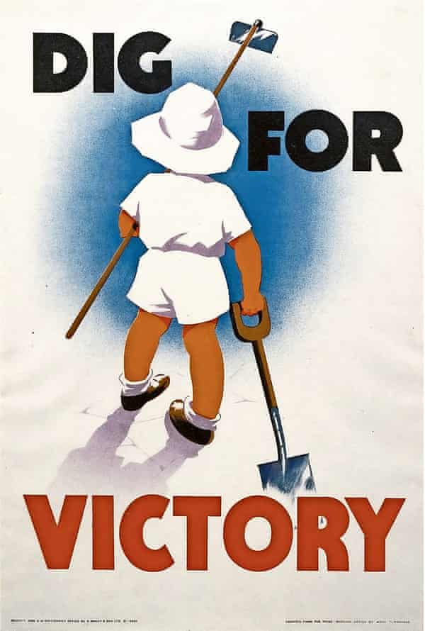 Imperial War Museum handout of a Dig for Victory poster by Mary Tunbridge.
