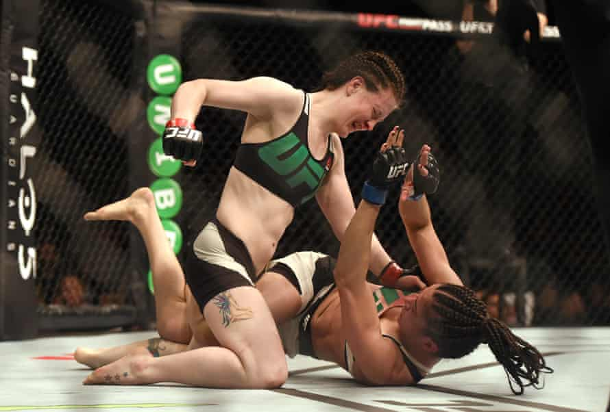 Aisling Daly in action against Ericka Almeida during UFC Fight Night in Dublin.