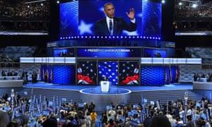 President Barack Obama speaks during the 2016 Democratic National Convention Democratic National Convention, Philadelphia.