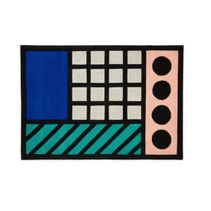 Camille Walala brings her Memphis-inspired designs to this collaboration with Floor Story Buildings Come True, £375 (120cm x 180cm), floorstory.co.uk