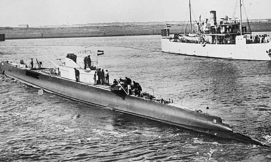 The Dutch submarine HNLMS K XVII, which was sunk by Japanese mines in the South China Sea in December 1941.