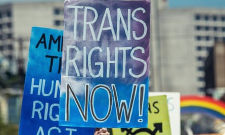 Trans rights banner
