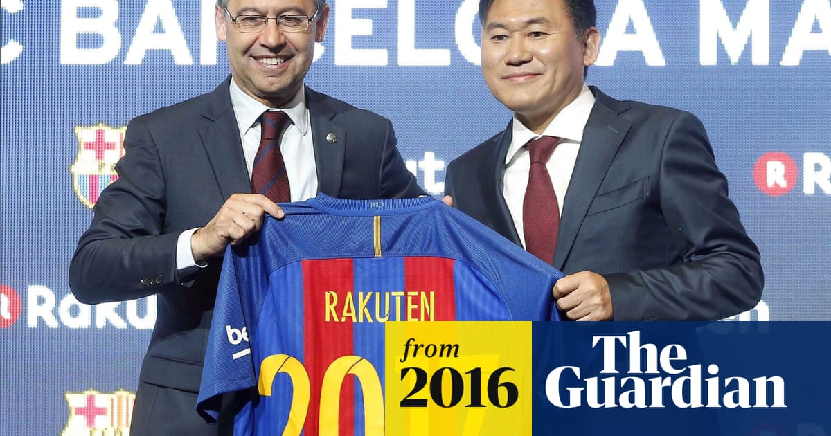 ce0ff4119 Barcelona sign €55m a year shirt sponsorship deal with Japanese firm ...