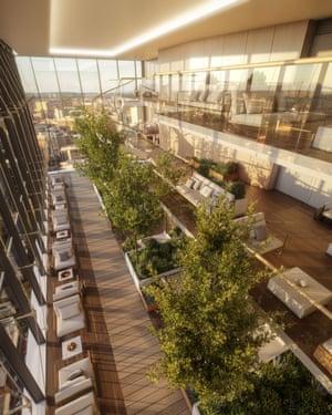 'Ballardian' … an impression of Two Springwell Gardens' green space.