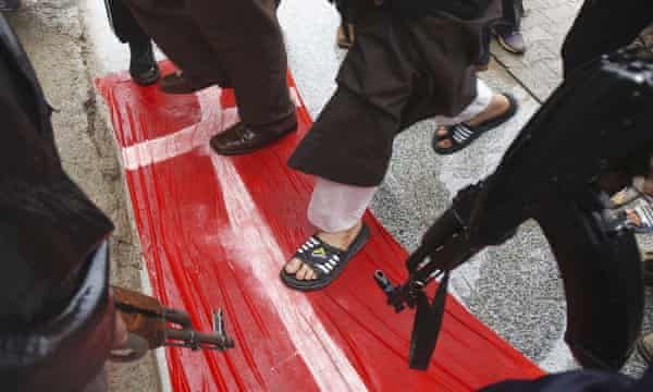 protest against denmark cartoons in iraq