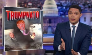 Trevor Noah: 'Trump, as the proud owner of a dying brain, thought Macron was insulting him personally.'
