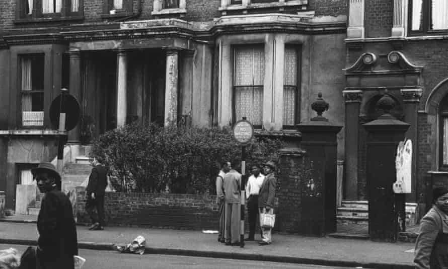 Street scene in Brixton, London, 1952.