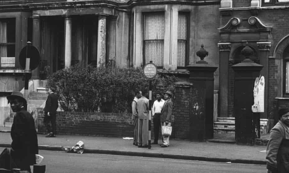 Street scene in Brixton, south London, in 1952.