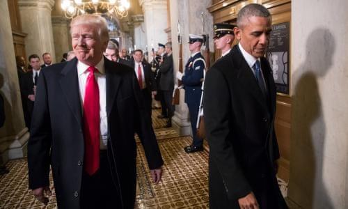 de869fcb7229 The anti-Obama: Trump's drive to destroy his predecessor's legacy   US news    The Guardian