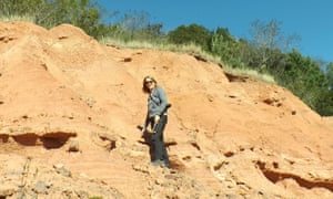 Professor Emily Rayfield, palaeontologist from the University of Bristol on a rare fieldwork to the Triassic of Rio Grande do Sul in Brazil.