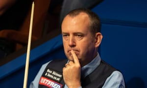 Mark Williams went ot of the World Snooker Championship to David Gilbert after a health scare earlier in the match.