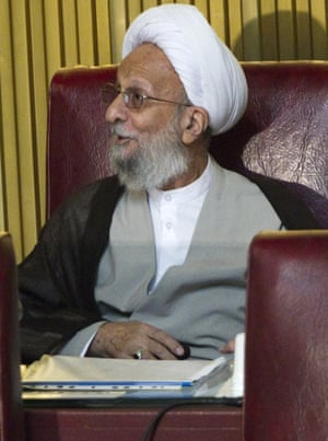 Mohammad Taghi Mesbah-Yazdi at the Experts Assembly in 2011.