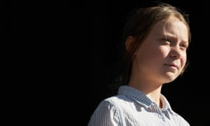 Greta Thunberg at a climate rally in Montreal on 27 September.