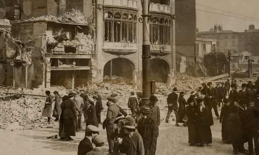 devastation at the end of the Easter Rising