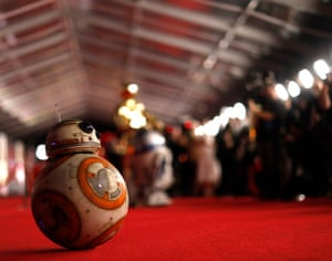 """""""BB8"""" on the red carpet."""