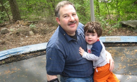 Leonard Pozner with his son Noah who died at Sandy Hook in 2012.
