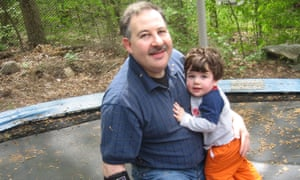 Leonard Pozner with his son, Noah, who died at Sandy Hook on 14 December 2012.
