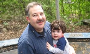 Lenny Pozner with his son Noah.