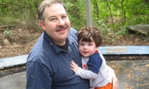 Lenny Pozner with his son Noah, who died at Sandy Hook elementary school.